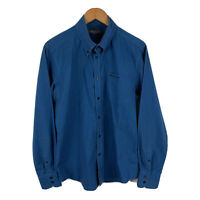 Ben Sherman Mens Button Up Shirt Size Large Blue Long Sleeve Collared