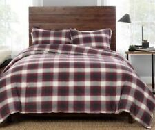 NEW PENDLETON  FULL QUEEN SIZE COMFORTER & 2 SHAMS SET FERN RIDGE Red Gray Plaid