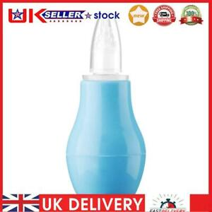 Manual Silicone Nasal Aspirator Infant Nasal Suction Nose Cleaner (Blue)