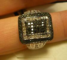 Black & White Diamond Cocktail Ring Sz.10  60diamonds .50tcw MSRP $944
