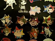 DISNEY PIN  - STAR CHARACTERS - 2012 HIDDEN MICKEY SERIES 10 PINS IN ALL
