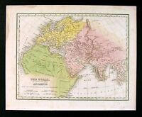 1835 Bradford Map - Ancient World - Egypt Greece Rome Europe Africa Middle East