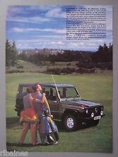 R&L Ex-Mag Advert: Mercedes G-Series Cross Country Car / 4X4 Car 80's Fashion