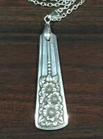 Antique Vintage Spoon/ Fork Silver Belle  Necklace Silverware Jewelry