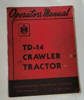 International Farmall Harvester TD-14 crawler FARM Tractors Operators Manual