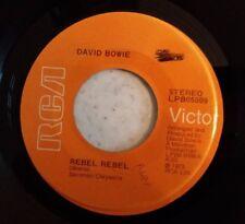 """David Bowie Rebel Rebel/Queen Bitch 7"""" Single Vinyl"""