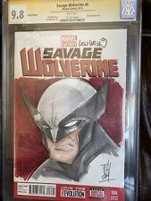 Sketchbook Savage Wolverine signed & Sketched By Tom Hodges, Signed Len Wein CGC