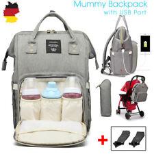 Multifunktional Windel Rucksack Mamabeutel Wickelrucksack Babytasche Großer USB