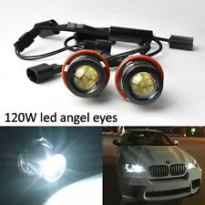 Pour BMW E53 E83 E67 X3 E39 E60 E61 Kit 120W LED Éclairage Angel Eyes Ampoules
