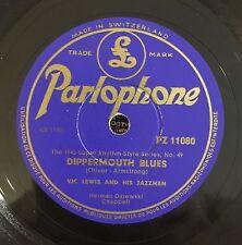 "RARE 78RPM 10"" PARLOPHON VIC LEWIS AND HIS JAZZMEN DIPPERMOUTH BLUES / BALLIN'"