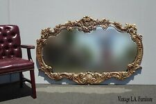 Large Vintage French Provincial Louis Xvi Ornate Rococo Wall Mantle Mirror