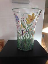 A Stunning Art Deco Hand Enameled Glass Vase