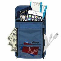 Orbisey Neck Wallet Travel Lightweight Pouch Stash for Passport, Money, Cards