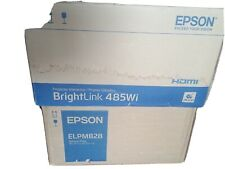 Epson BrightLink 485Wi LCD Projector with remote and wall mount open BOXES