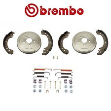 Corolla Manufactured in North America 2-BREMBO Rear DRUMS & Shoes+Spring KIT