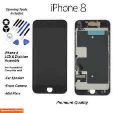 NEW iPhone 8 Retina LCD & Digitiser Touch Screen Full Assembly with Parts BLACK