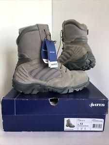 Bates Men's GX-8 Composite Toe Side Zip Tactical Boot - Sage - SIZE UK 12 - NEW