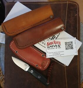 BARK RIVER CITY KNIFE Micarta Fixed plus 2 Custom Lederscheiden 6,3cm Elmax OVP!