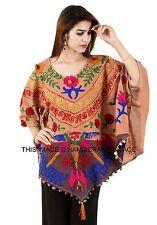 Beach Cover Up Kaftan Boho Hippy New Indian Plus Size Women Dress Ponchos Shirt