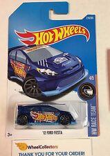 '12 Ford Fiesta #210 * BLUE * 2017 Hot Wheels K Case * D29