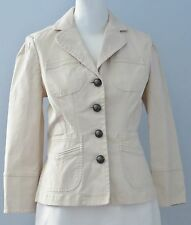 BANANA REPUBLIC Size 6 Beige 4-Button Collared Long Sleeve Blazer