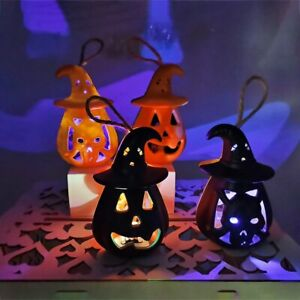 Halloween Pumpkin Ghost LED Lantern Scary Candle Light DIY Hanging Home Decorate