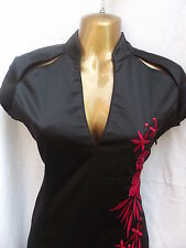 LATEST DESIGN Oriental Chinese Black Red PARTY dress 22