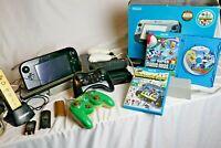Nice Nintendo Wii U Deluxe 32GB Black Console Lot ZELDA WII REMOTE + MORE