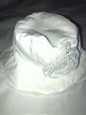 Infant Bucket Summer Hat Swimming White With Flower Size 18/24months