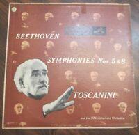 Beethoven Symphonies No. 5 & 8 Toscanini Record LM1757