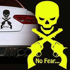 Auto Aufkleber NO FEAR Totenkopf Scull Skull Motorrad Bike Tuning Sticker DUB