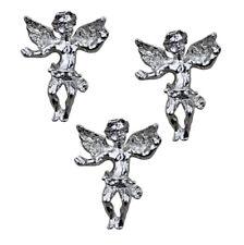 KIRKS FOLLY  ANGEL TAC PIN SET OF 3  silvertone