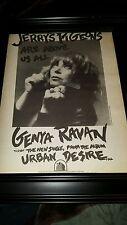 Genya Ravan Urban Desire Rare Original Promo Poster Ad Framed!