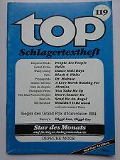 TOP Schlagertextheft Nr 119, Depeche Mode, Andy Borg