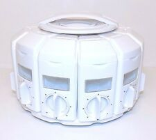 KitchenArt Select-A-Spice Auto-Measure Carousel Spice Rack Container 12 Holders