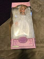Collectible Porcelain Doll 20 inches tall wedding dress