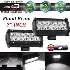 LED 7'' Inch 36W Car SUV 4X4 Working Lights Flood Beam Lamp Waterproof 2 Pcs New
