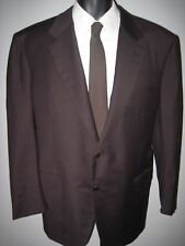 """48R ~solid chocolate brown 2 button """"Brioni"""" gold/brown buttons Made in Italy"""