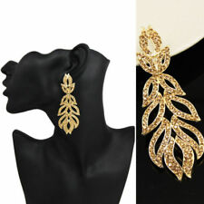 Crystal Yellow Gold Plated Statement Fashion Earrings