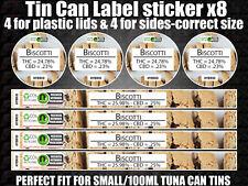 Biscotti tin can Labels Sticker Marijuana weed CALI RX Medical Cannabis 100ml