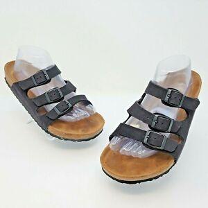 Birkenstock Florida Soft Footbed Black Slide Sandals Size EUR 41 US L10 M8 Reg