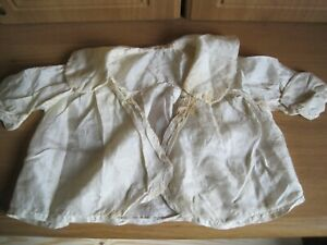 Antique child's dress handmade silk with embroidery