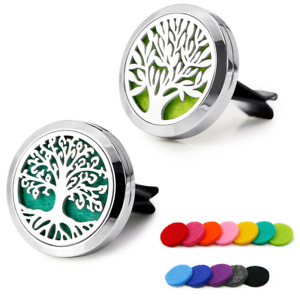 RoyAroma 2PCS 30mm Car Aromatherapy Essential Oil Diffuser Stainless Steel with