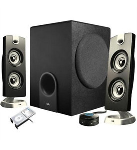 NEW Cyber Acoustics CA-3602 Platinum 2.1 Speaker System - 30 W RMS