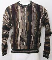 Croft & Barrow Coogie Biggie Cosby 90's Vtg LS Textured Knit Sweater Men's M