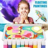 Marbling Painting Kit DIY Painting on Water Creative Xmas 6 Colors Set Art N7D4