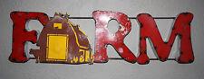 Recycled Rustic Tin Metal FARM Sign Pole BARN Lodge Man Cave Home Decor