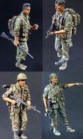 1/35 Resin US Infantrymen 4 Set Vietnam War Unpainted Unassembled QJ069