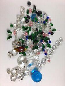 Vintage Sparkling Old Antique Crystals For Chandelier - Craft - Wedding