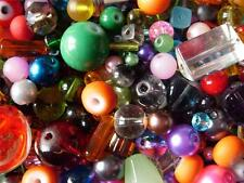 MULTI COLOUR MIX ASSORTED SIZE GLASS BEADS 2-12MM MANY COLOURS AVAILABLE